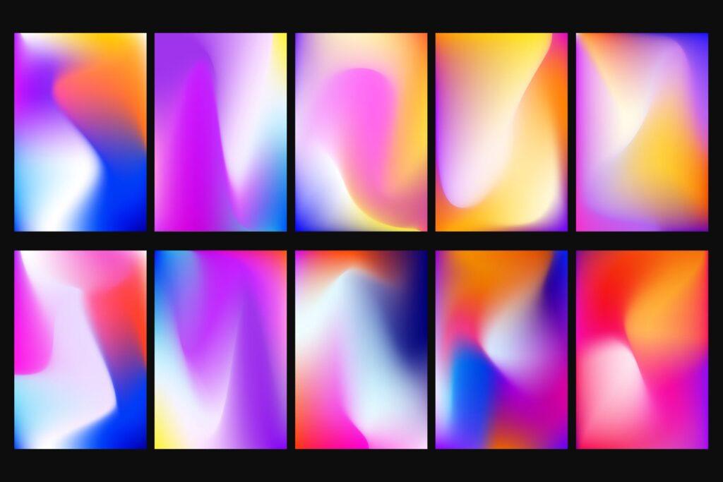 多彩渐变背景手机壁纸渐变背景主题元素下载Vivid Gradients Backgrounds插图(2)