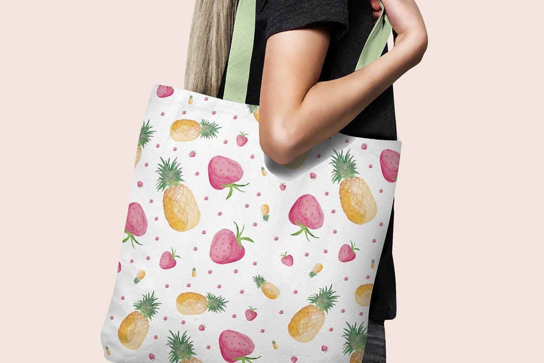 20个手绘水彩水果图案纹理花纹手机壳装饰图案纹理Watercolor Fruit Patterns插图(2)