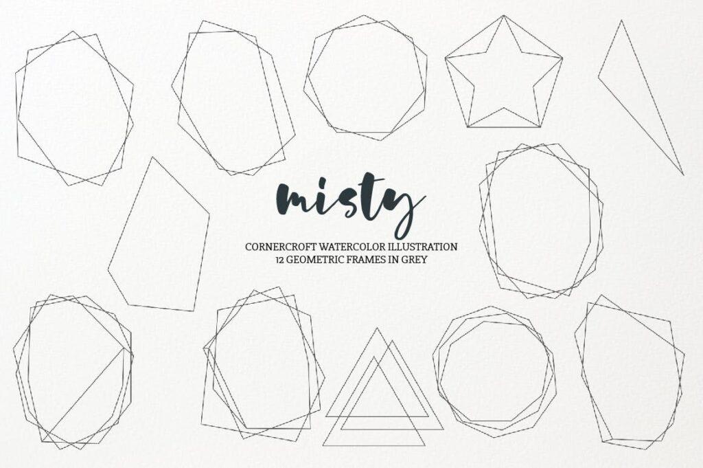 水彩画朦胧创意水墨画图案纹理装饰Watercolor Illustration Misty插图(2)