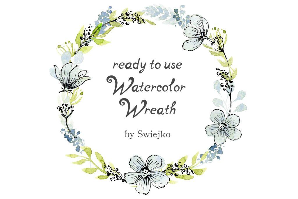 96副手绘花卉大合集及水墨风图案下载Watercolor and Ink flowers插图(2)