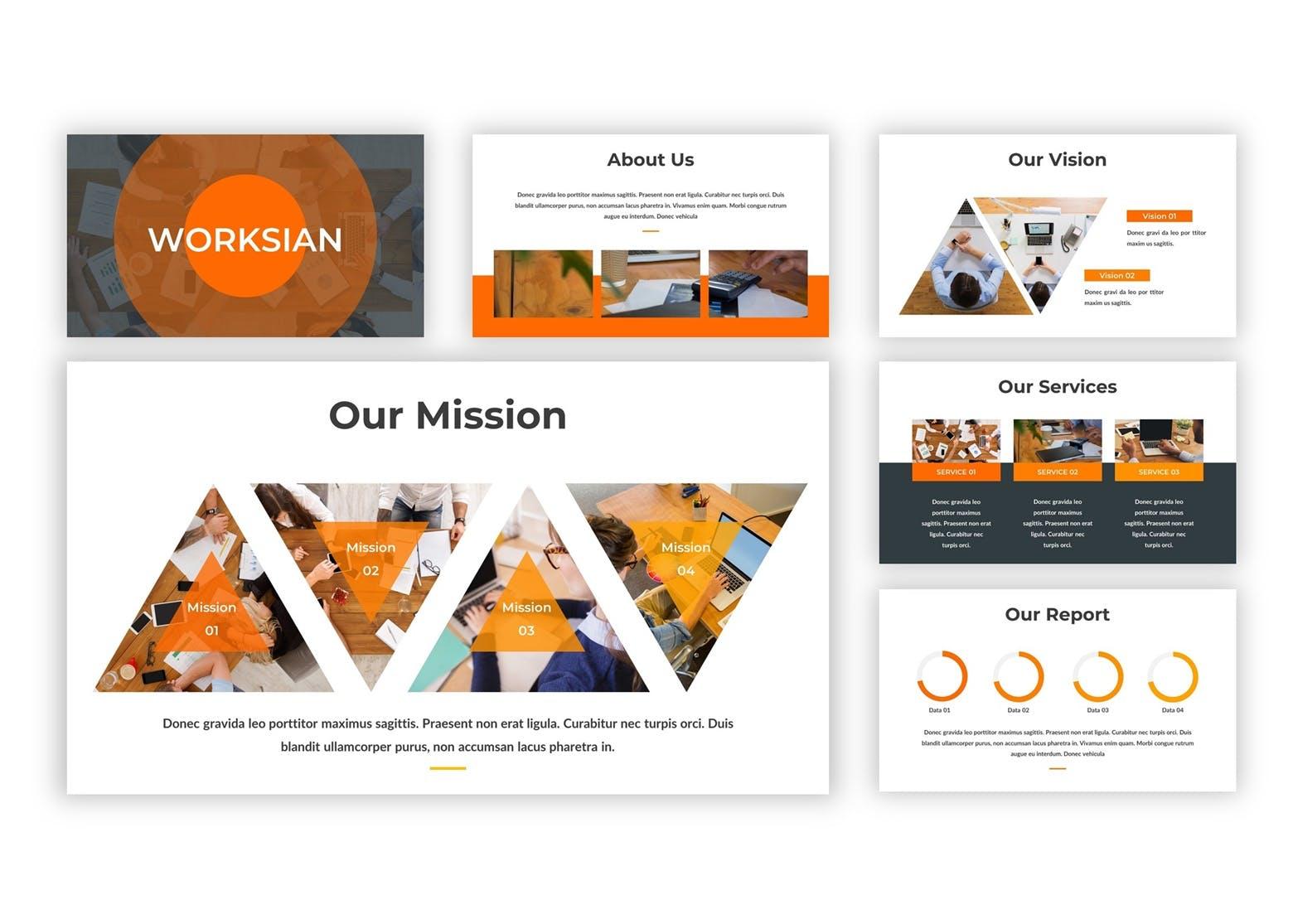 市场策划提案PPT幻灯片模板下载Worksian Google Slides Template插图(2)