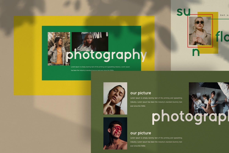 创意版式对比色风格多用途PPT幻灯片模板sunflowers keynote插图(2)