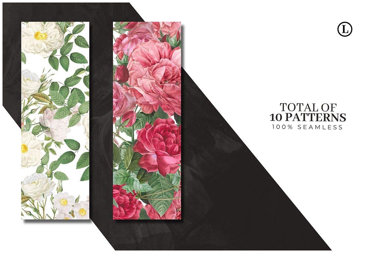 10个精致花卉图案纹理素材下载10 Colorful Flower Patterns插图(2)