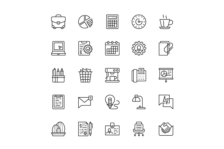 150个线性图标设计源文件下载150 Line Icons插图(3)