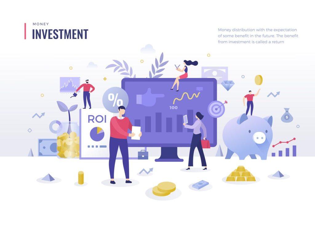 金融货币扁平风场景创意插图4 Money Finance Flat Illustration Concepts插图(3)