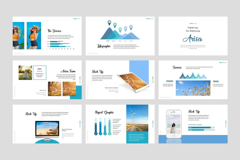 多用途主题演讲模板PPT幻灯片模板下载Arisa Google Slide Presentation Template插图(3)