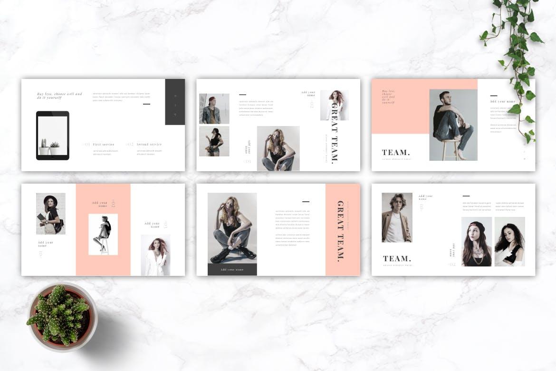 明亮的时尚品牌基调PPT幻灯片模板下载BRIGHT Fashion Keynote Template插图(3)