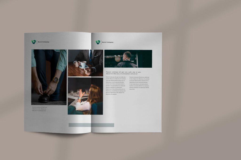 工作室产品介绍画册模板BURST Brochure Corporate插图(3)
