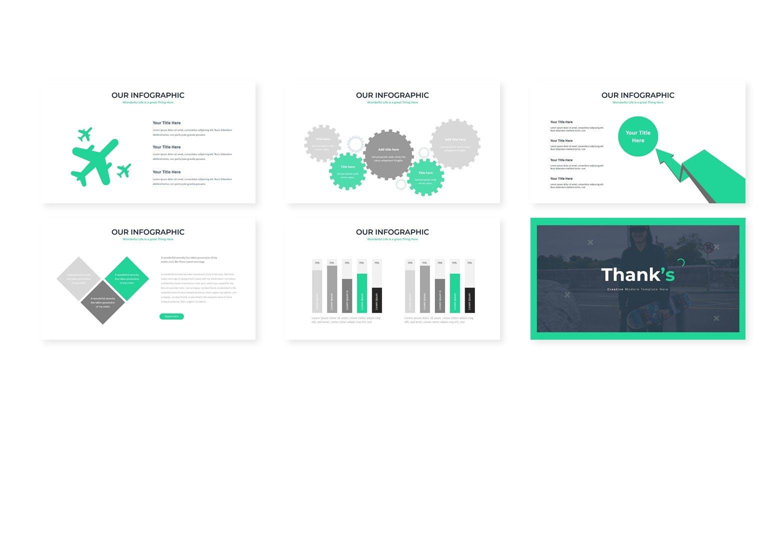 几何图案版式风格PPT幻灯片模板Bogang Google Slides Template插图(3)