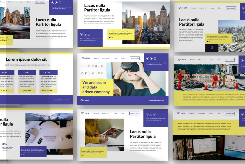市政工程类项目汇报创意多用途模板设计PPT幻灯片模板Bringmeon Google Slide插图(3)