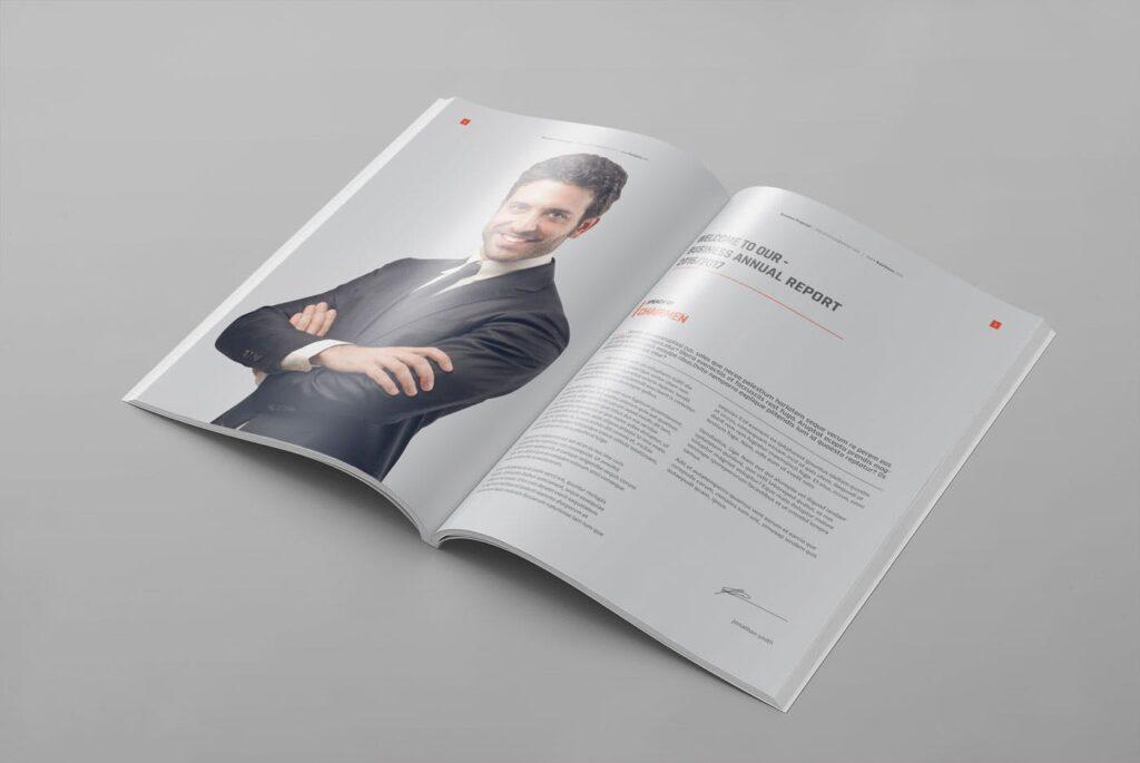 精致企业服务类/产品画册杂志模板Brochure WBYXNN插图(2)
