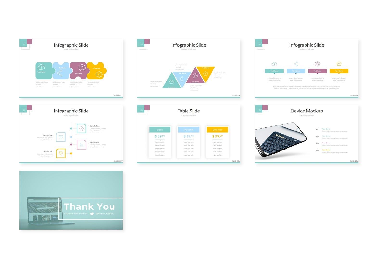 企业市场策划数据PPT幻灯片模板Businezi Keynote Template插图(3)