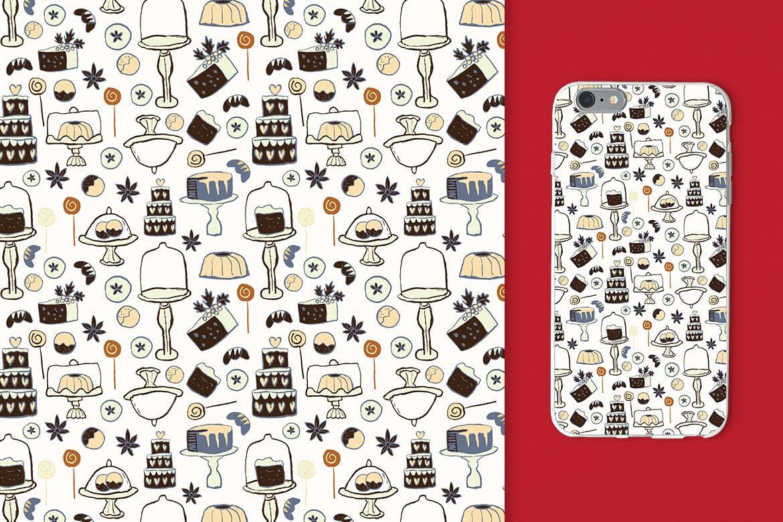 生日蛋糕相关元素装饰图案纹理Cakes Patterns插图(9)