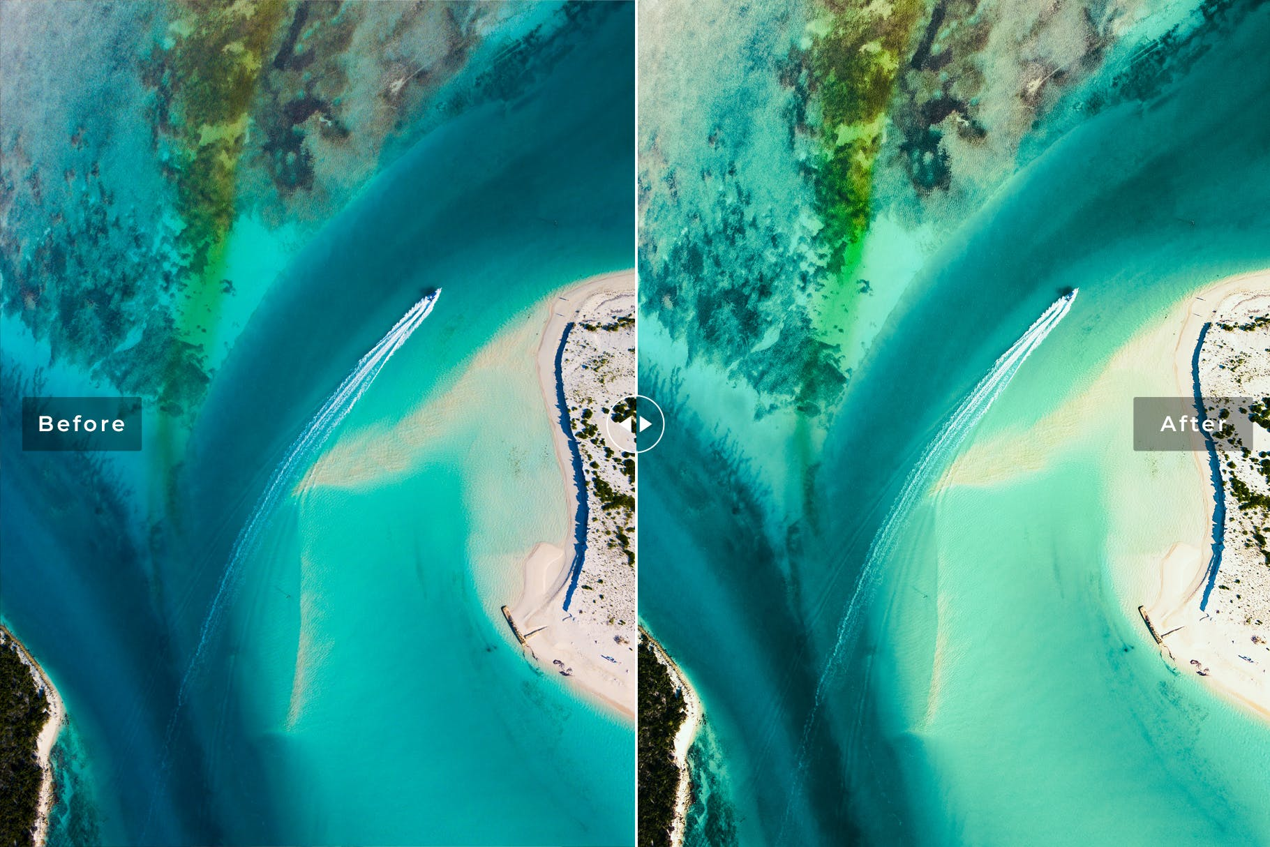 海滩冲浪系列调色照片效果处理LR预设Caribbean Mobile Desktop Lightroom Presets插图(3)