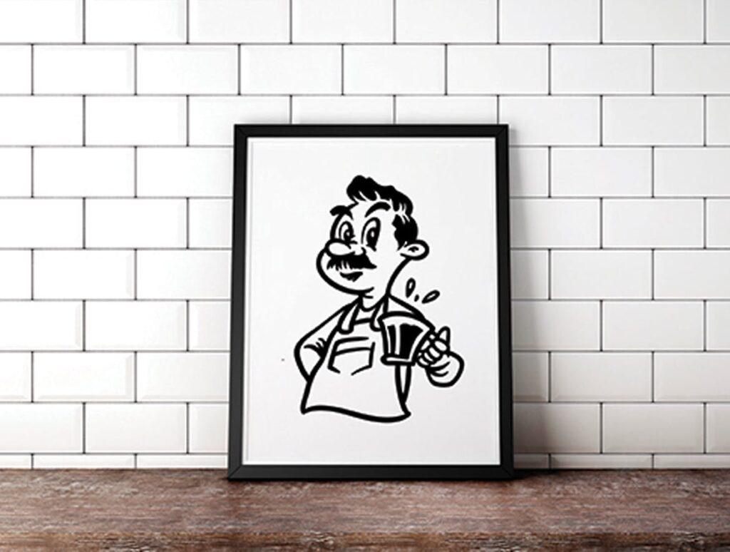 15个卡通复古插画相框装饰画Cartoon Vintage Illustration插图(3)