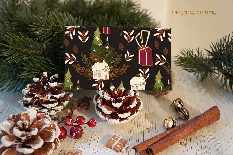 圣诞节剪贴画矢量手绘元素装饰素材Christmas Cliparts插图(3)