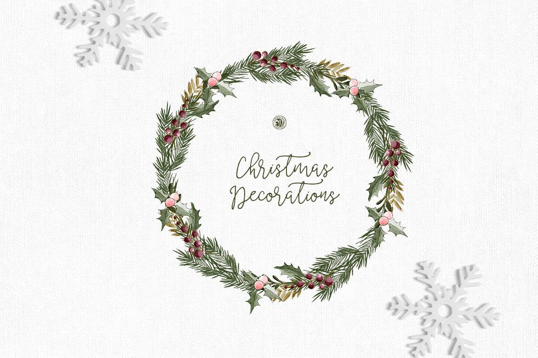 圣诞装饰素材图案纹理花卉图案纹理下载Christmas Decorations插图(3)