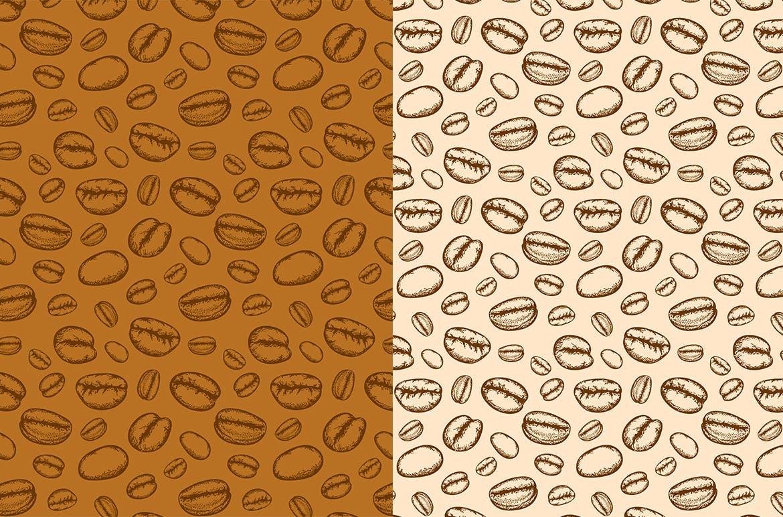 咖啡和茶手绘图案纹理素材纹理下载Coffee and Tea Patterns插图(2)