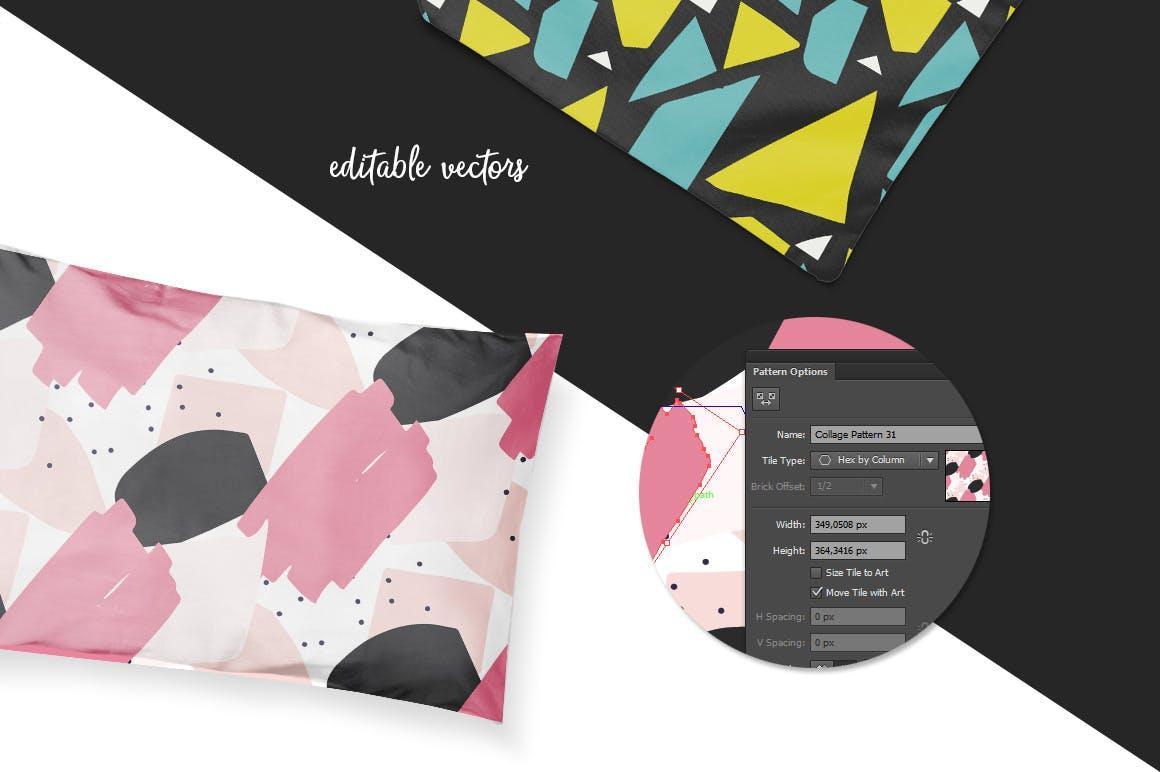 40个创意拼贴彩色图案涂鸦下载Collage Colorful Patterns插图(3)