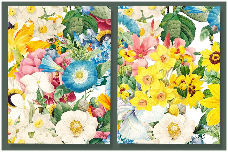 花卉图案合集服装装饰图案Colorful Flowers Clipart Collection插图(3)