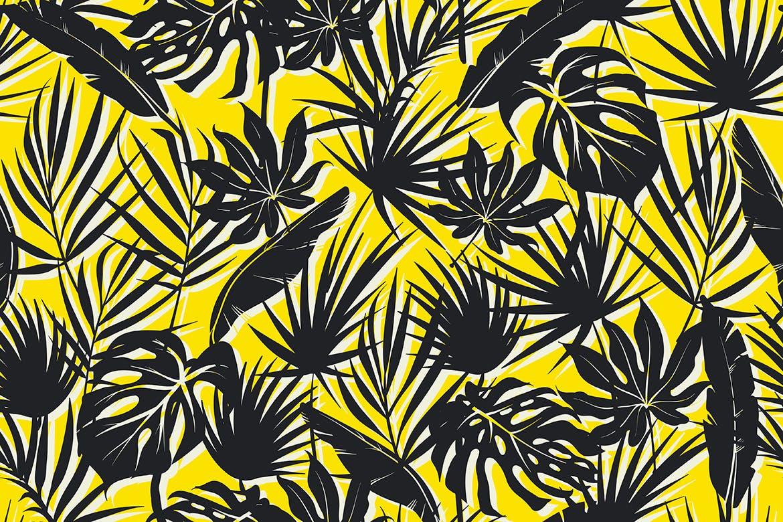 抽象概念植物天堂花装饰图案(大合集)Colorful Tropical Foliar Seamless Patterns插图(3)