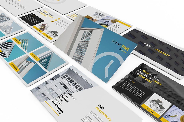 建筑行业团队介绍幻灯片模板展示Construction Powerpoint Presentation插图(3)
