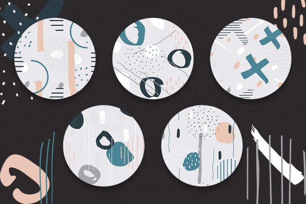 高端文艺企业品牌VI辅助图形装饰图案下载Delicious Patterns Pack Bonus插图(3)