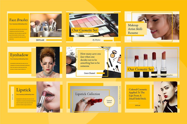 美容院市场营销策划主题幻灯片模板下载Dhylan Beauty Salon Keynote插图(3)