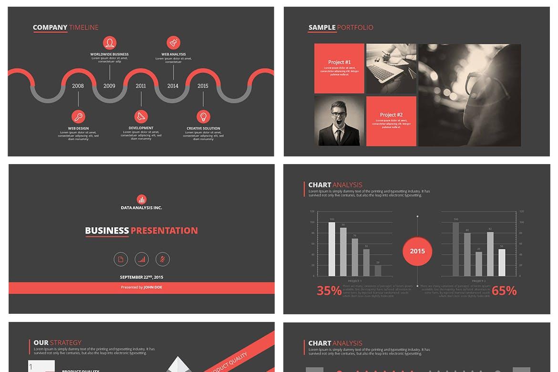 高端简洁企业现代主题演讲幻灯片模板下载Dukku Keynote插图(3)