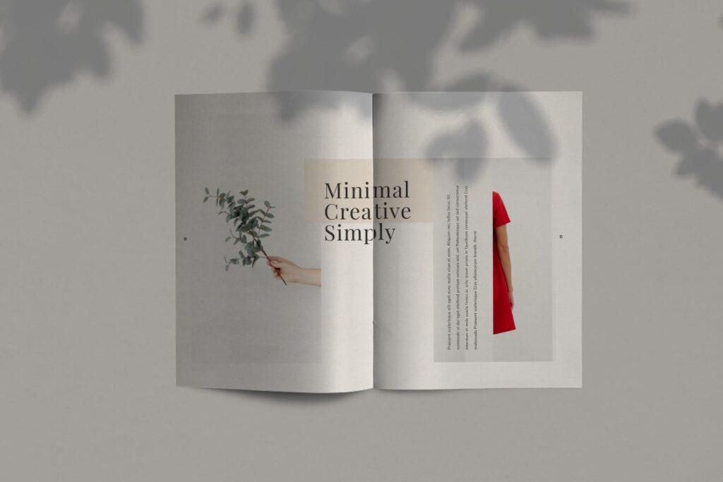 简约时尚工作室产品介绍主题画册模板Fairy Lookbook Brochure Business Company Xyuzvt6插图(3)
