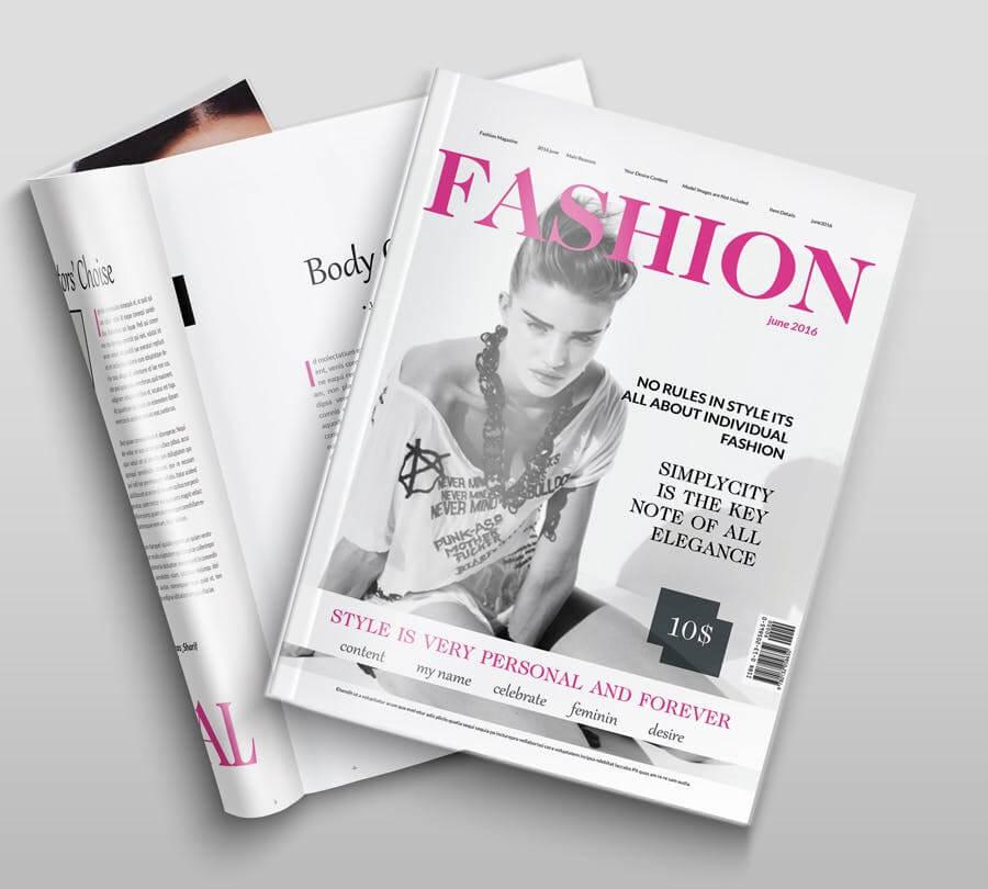 模特经纪或时装展览杂志模板素材Fashion Magazine R8C6UK插图(3)