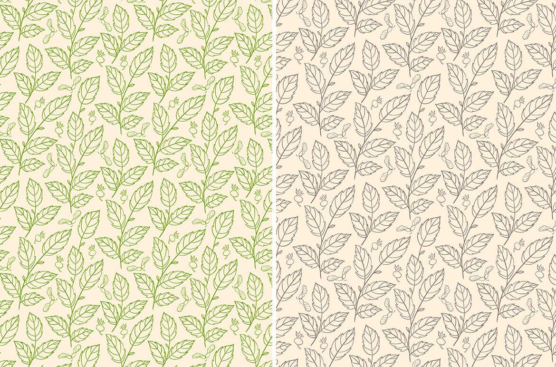 花卉矢量图案与叶子Floral Seamless Patterns插图(3)