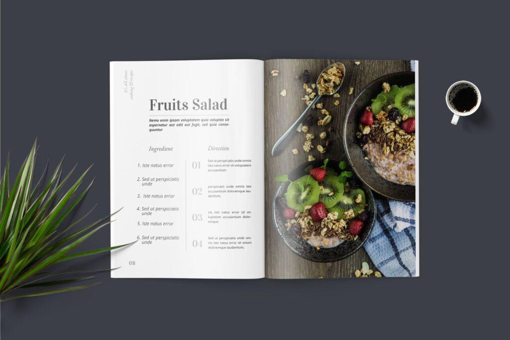 食品/餐饮类主题杂志模板Food Magazine Template Bdxvs4g插图(3)