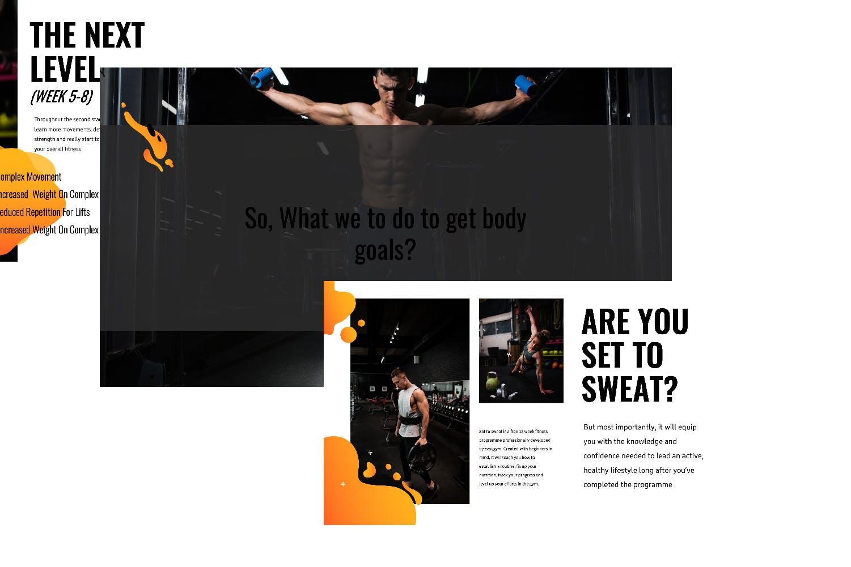 瑜伽健身主题宣讲PPT幻灯片模板GYM Google Slide插图(3)