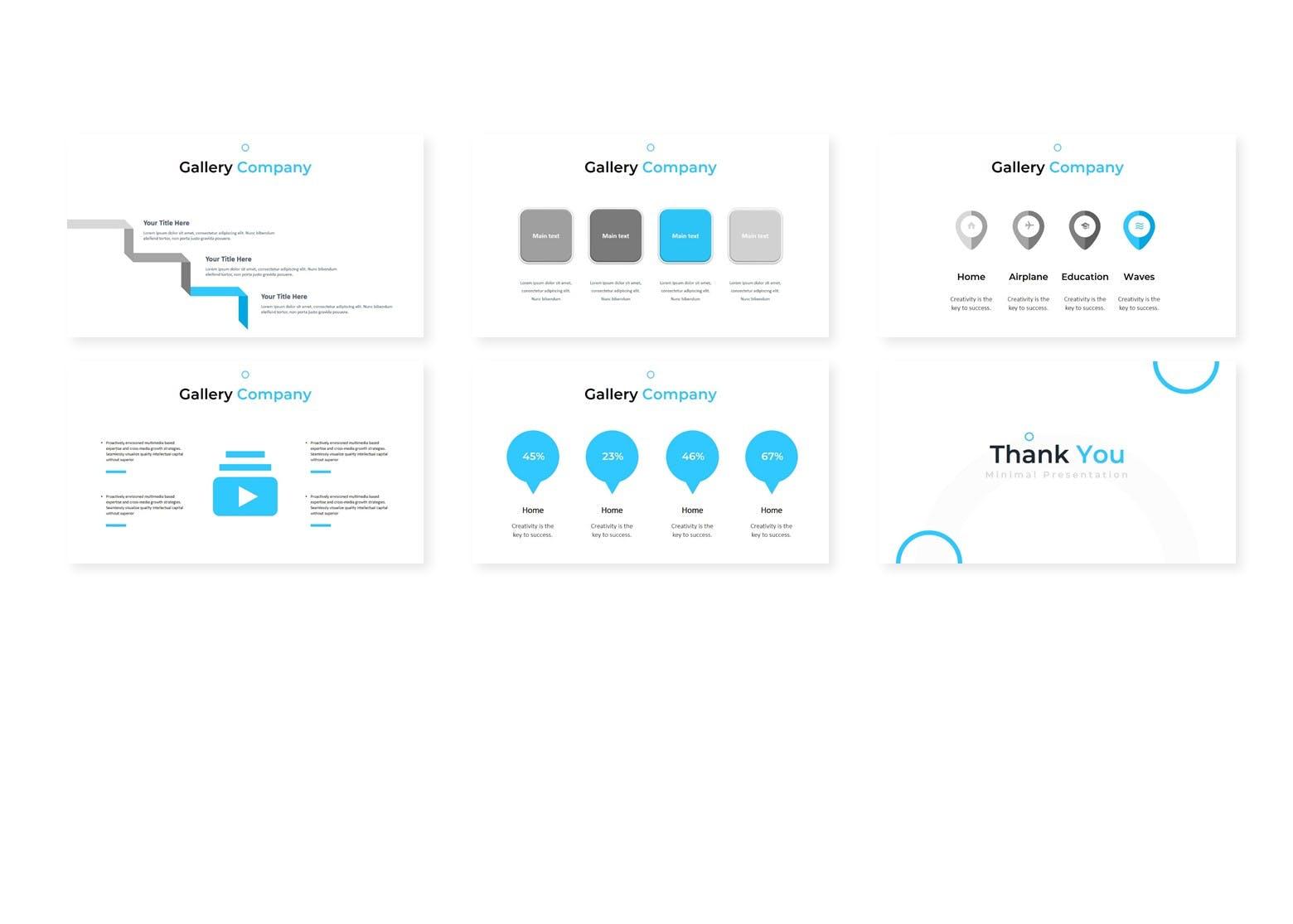 多用途行业企业策划模板PPT幻灯片模板Gandos Keynote Template插图(3)