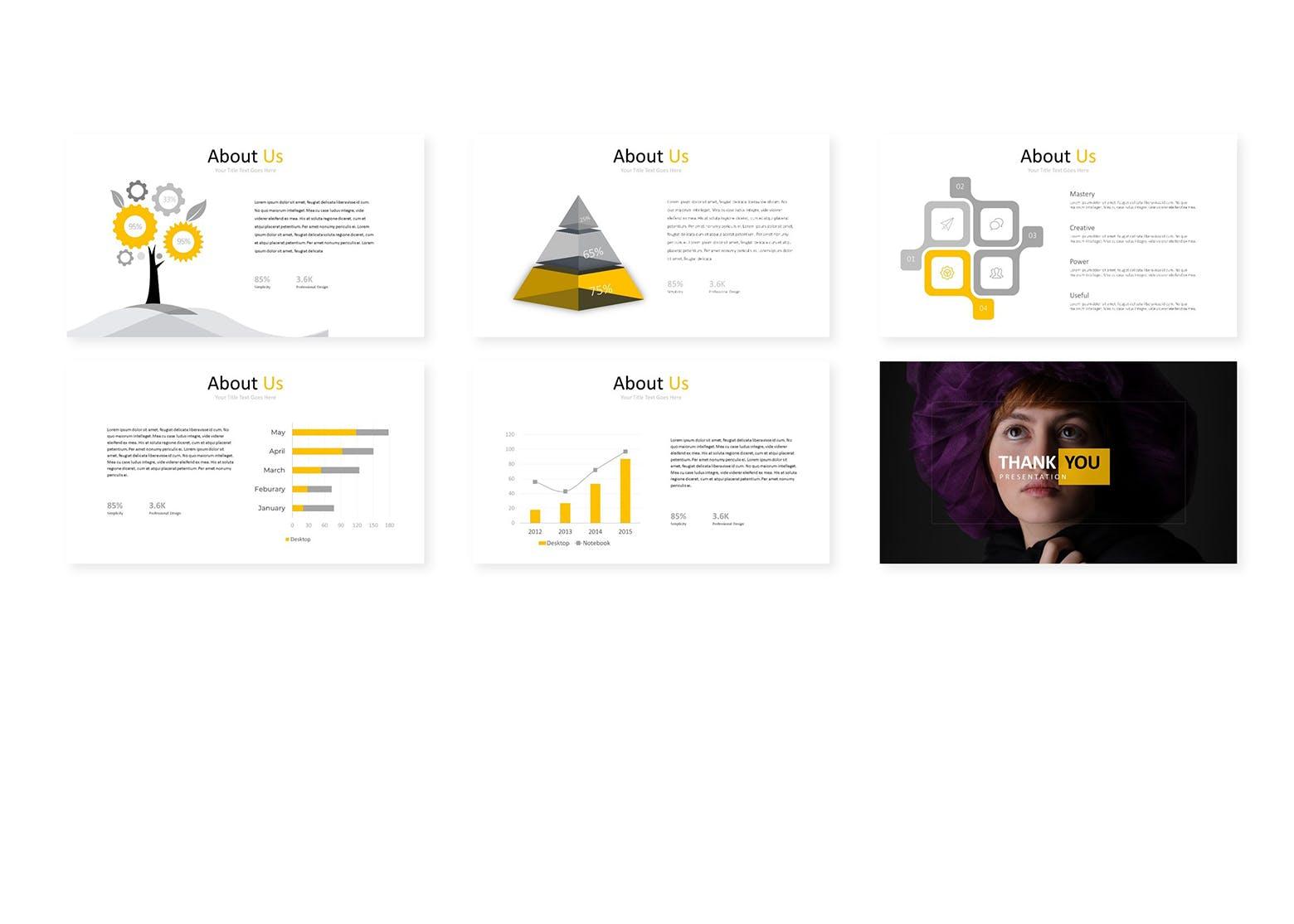 企业主题演讲PPT幻灯片模板Gord Google Slides Template插图(3)
