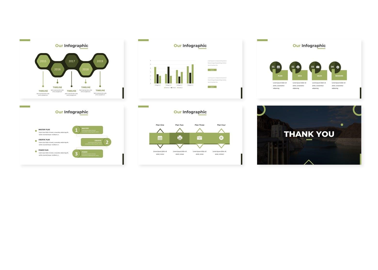 绿色能源水利发电行业数据PPT模板Green Parit Google Slides Template插图(3)