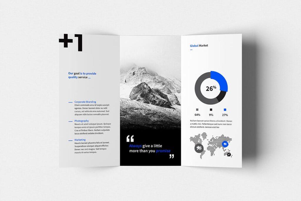 企业产品目录三折页模板素材H1 Trifold Brochure插图(3)
