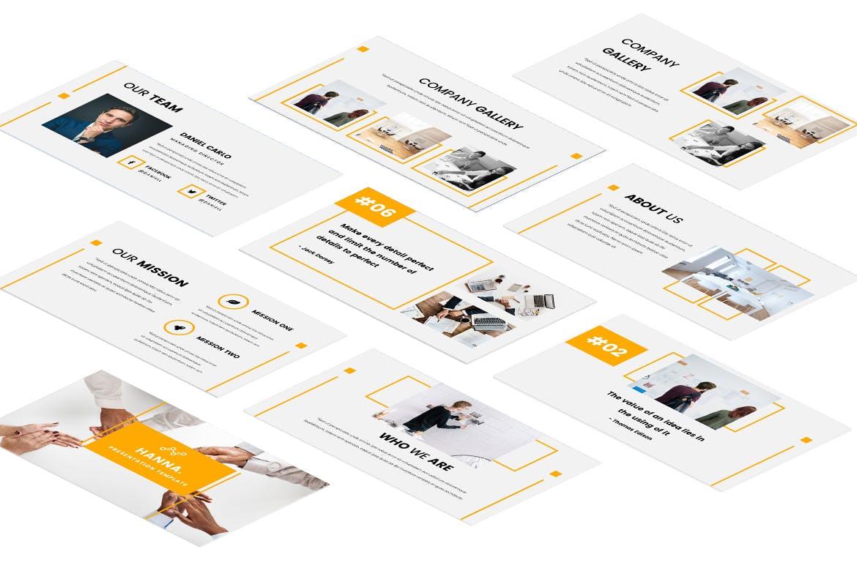 房地产公司活动策划PPT幻灯片模板Hanna Google Slides Presentation插图(3)
