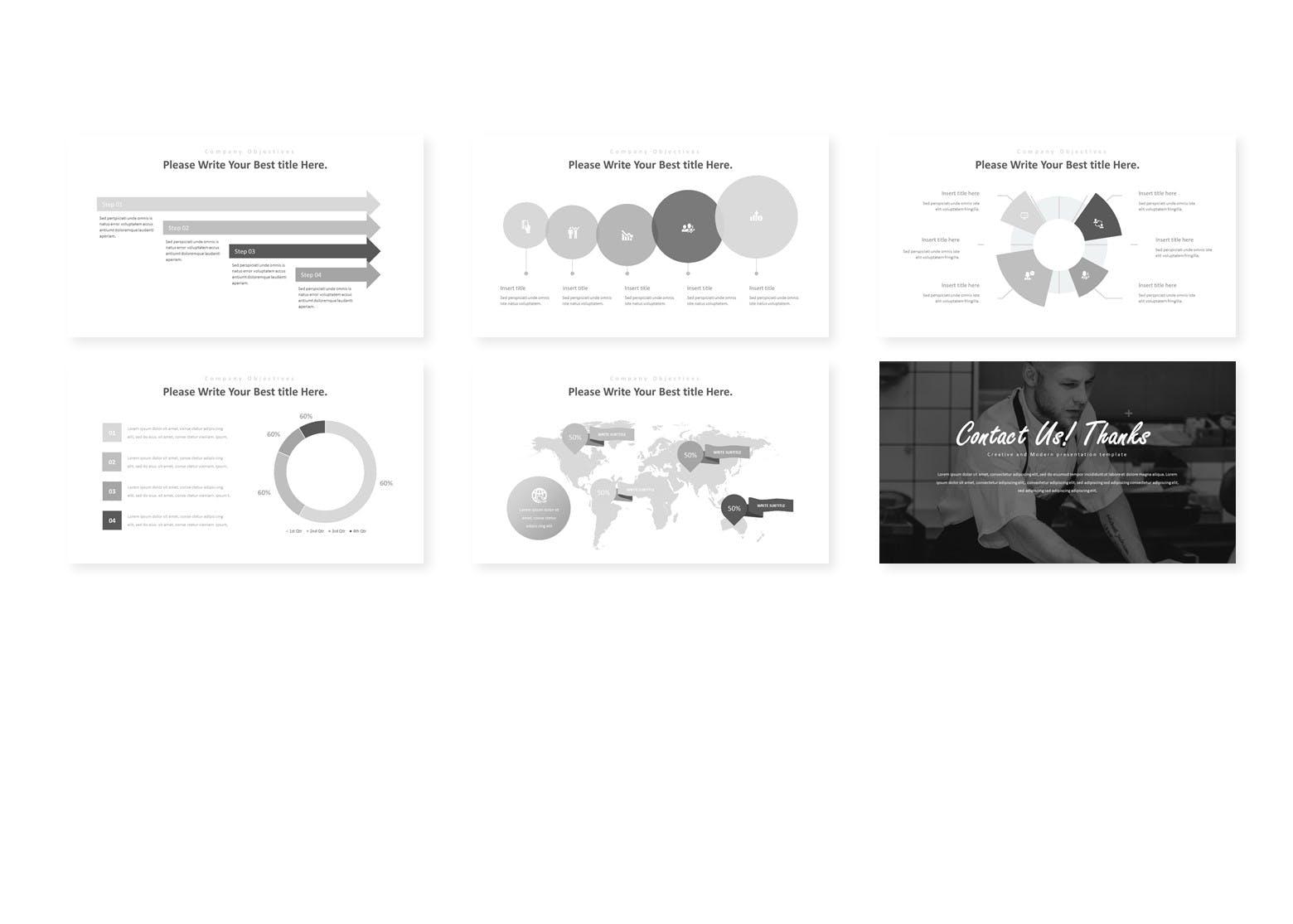 多用途企业业务演示PPT幻灯片模板Himense Google Slides Template插图(3)