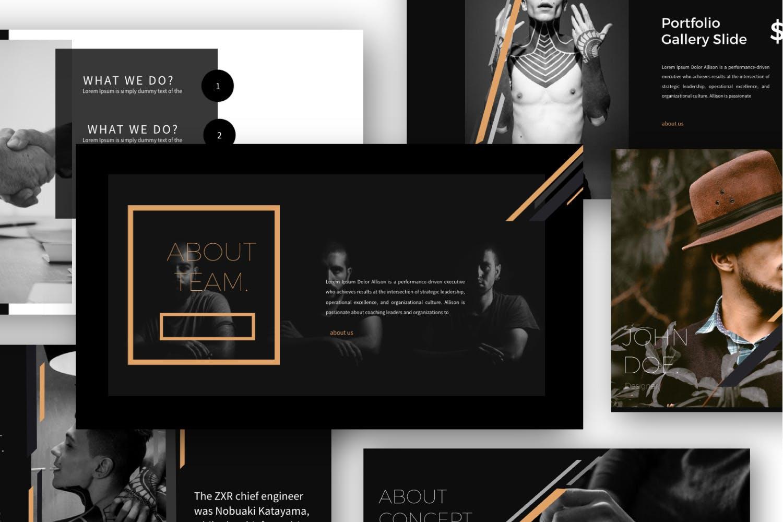 时尚品牌产品发布会PPT幻灯片模板IRISH Brown Keynote插图(3)