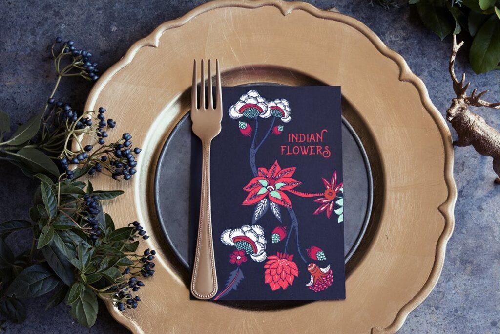 印度风格花卉插花抱枕装饰图案花纹Indian Flowers插图(3)