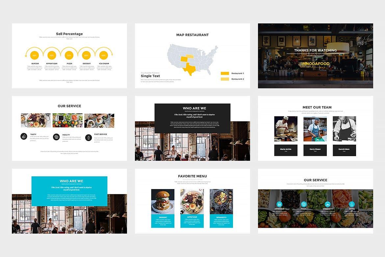 西餐美食料理主题餐厅品牌幻灯片模板Innodafood Keynote Presentation插图(3)