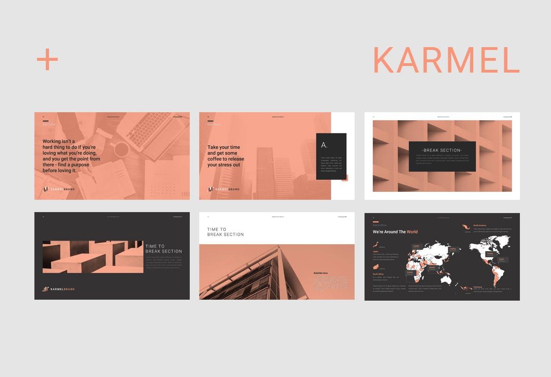 跨国企业品牌主题介绍幻灯片模板Karmel Keynote插图(3)