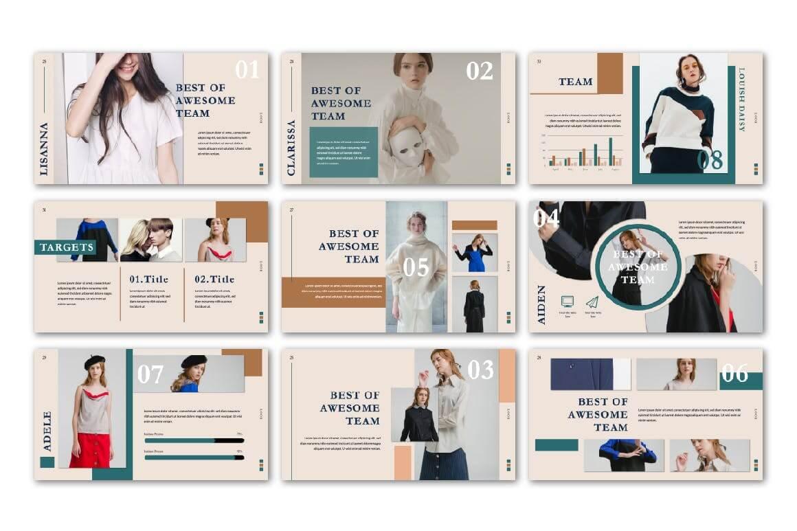 极致简洁暖色系品牌宣传PPT幻灯片模板Look Keynote Template插图(3)