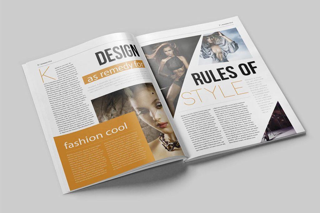 写真集/采访/画廊主题杂志模板下载Magazine Template 6N4PTQJ插图(3)