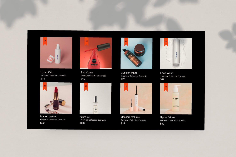 高端化妆品新品发布会PPT幻灯片模板Make Over Google Slide插图(3)