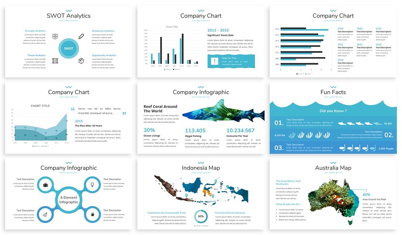 海洋主题宣讲PPT幻灯片模版Mare Ocean Google Slides Template插图(3)