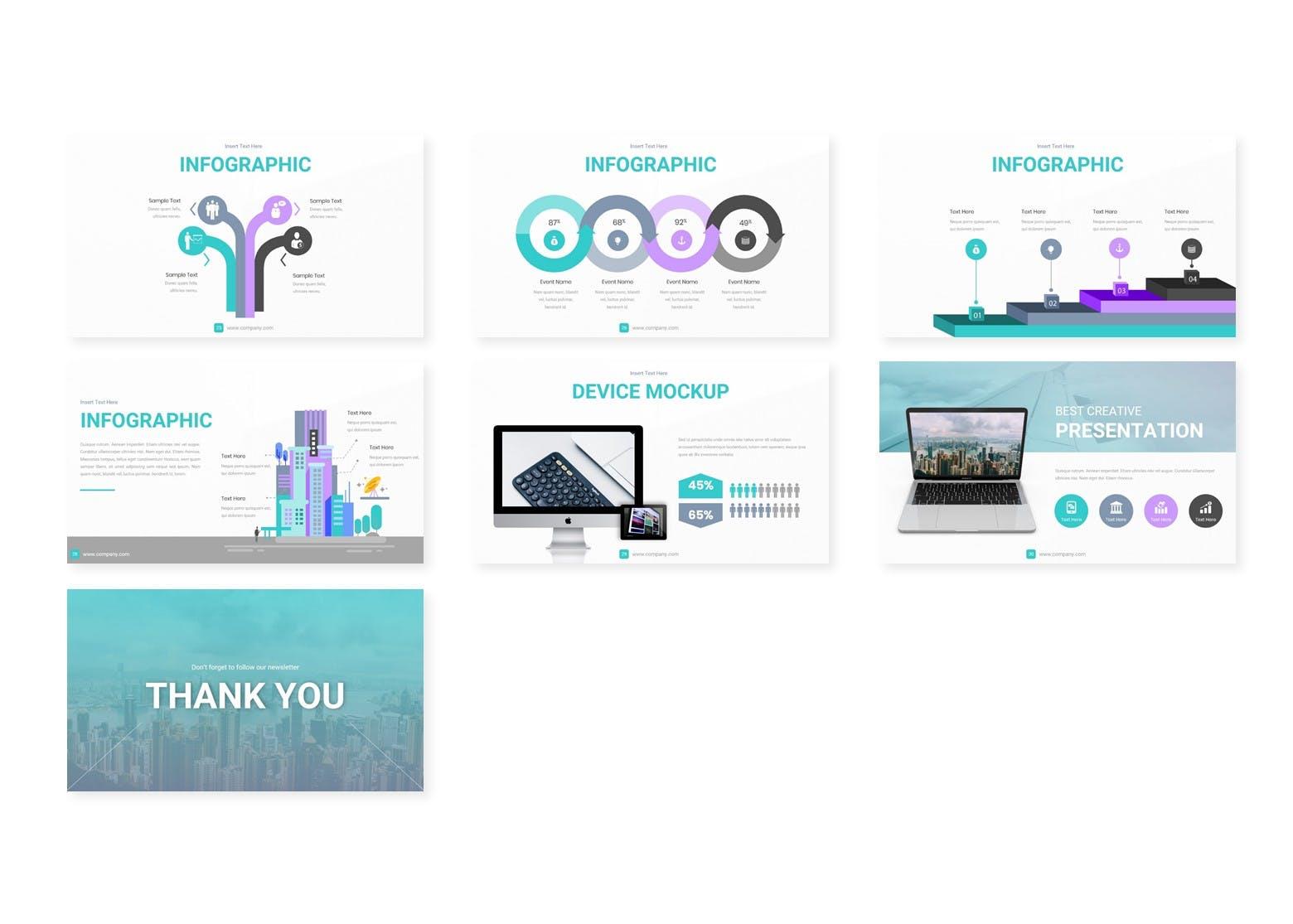 企业历史发展回顾主题演讲PPT幻灯片模板Meditera Keynote Template插图(3)