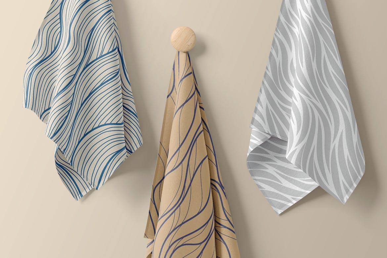 复古波浪条纹无缝图案Minimalist Waves Seamless Patterns插图(3)